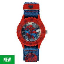 Marvel Spider-Man Time Teacher Blue Velcro Strap Watch Best Price, Cheapest Prices