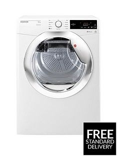 Hoover Dynamic Next Dx10Tce 10Kg Load Aquavision Condenser Tumble Dryer With One Touch - White/Chrome Best Price, Cheapest Prices