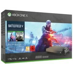 Xbox One X Gold Rush Edn 1TB Console & Battlefield V Bundle Best Price, Cheapest Prices