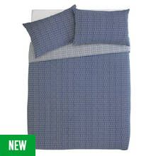 Argos Home Navy Arrow Bedding Set - Double Best Price, Cheapest Prices