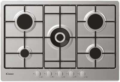 Candy CHW74WX 75cm Wok Gas Hob - Stainless Steel Best Price, Cheapest Prices