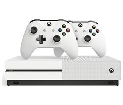 MICROSOFT Xbox One S & Two Wireless Controllers Bundle - 1 TB Best Price, Cheapest Prices