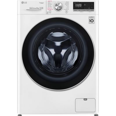 LG Vivace F4V509WS 9Kg Washing Machine with 1400 rpm - White - A+++ Rated Best Price, Cheapest Prices