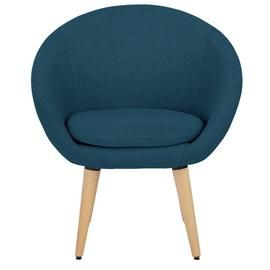 Argos Home Fabric Pod Chair - Navy Best Price, Cheapest Prices