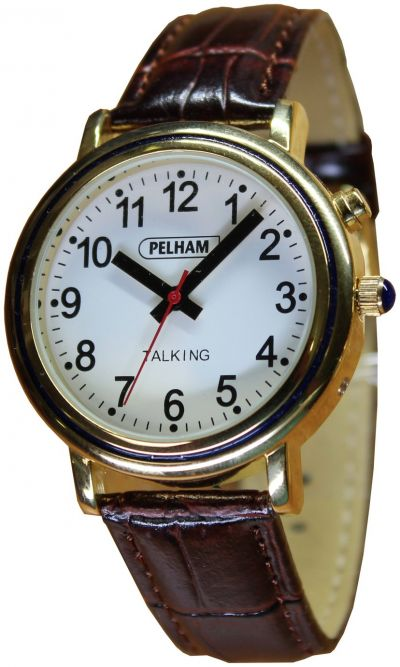 Thoughtfully Designed Talking Analogue Gold Case Large Watch Best Price, Cheapest Prices
