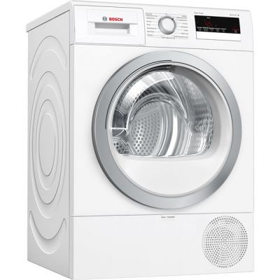 Bosch Serie 4 WTR85V21GB 8Kg Heat Pump Tumble Dryer - White - A++ Rated Best Price, Cheapest Prices