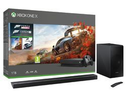 MICROSOFT Xbox One X, HW-N650 5.1 Wireless Sound Bar, Forza Horizon 4 & Forza Motorsport 7 Bundle Best Price, Cheapest Prices