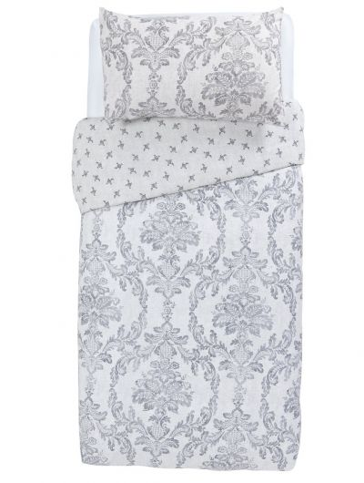 Argos Home Damask Bedding Set - Single Best Price, Cheapest Prices