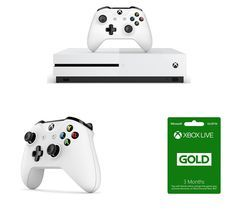 MICROSOFT Xbox One S, Wireless Controller & LIVE Gold Membership Bundle - 1 TB Best Price, Cheapest Prices