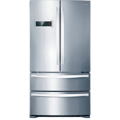 Stoves FD90SS American Fridge Freezer - Stainless Steel - A+ Rated Best Price, Cheapest Prices