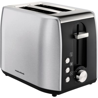 Morphy Richards Equip 222057 2 Slice Toaster - Brushed Stainless Steel Best Price, Cheapest Prices