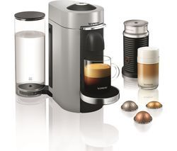 NESPRESSO by Magimix Vertuo Plus Coffee Machine with Aeroccino - Silver Best Price, Cheapest Prices
