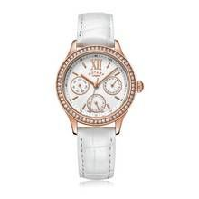 Rotary Ladies' Rose Gold Plated Stone Set Multi Dial Watch Best Price, Cheapest Prices