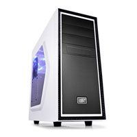 DeepCool Tesseract SW-WH Mid Tower Chassis, White/Black, ATX, with Side Window, Blue LED Fan & USB 3.0 Best Price, Cheapest Prices