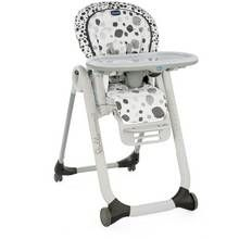 Chicco Polly Progress 4 Wheel Highchair - Anthracite Best Price, Cheapest Prices