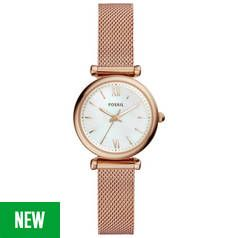 Fossil Rose Gold Coloured Dial Ladies Watch Best Price, Cheapest Prices