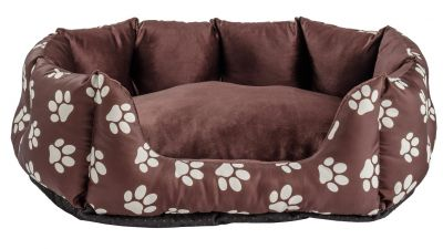 Paw Print Oval Pet Bed - Medium Best Price, Cheapest Prices