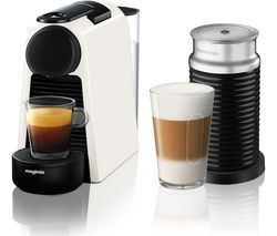 NESPRESSO by Magimix Essenza Mini Coffee Machine with Aeroccino - Pure White Best Price, Cheapest Prices