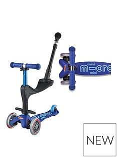 Micro Scooter 3 In 1 Mini Deluxe Plus - Blue Best Price, Cheapest Prices