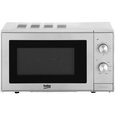 Beko MGC20100S 20 Litre Microwave With Grill - Silver Best Price, Cheapest Prices