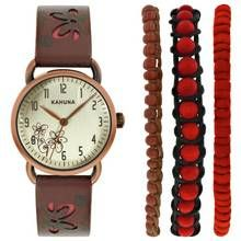 Kahuna Ladies' Strap Watch and Bracelet Set Best Price, Cheapest Prices
