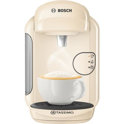 Tassimo by Bosch Vivy 2 TAS1407GB Pod Coffee Machine - Cream Best Price, Cheapest Prices