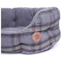Petface Medium Oval Bed - Grey Tweed Best Price, Cheapest Prices