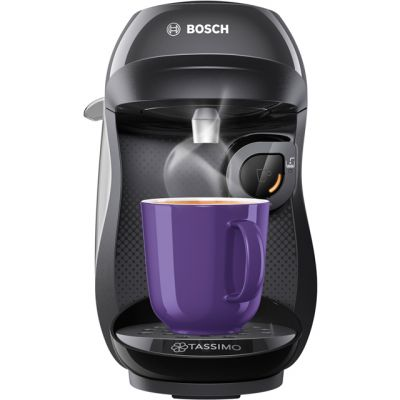 Tassimo by Bosch Happy TAS1002GB Pod Coffee Machine - Black Best Price, Cheapest Prices