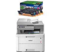 BROTHER DCPL3550CDW All-in-One Wireless Laser Printer & TN243CMYK Toner Cartridges Bundle Best Price, Cheapest Prices