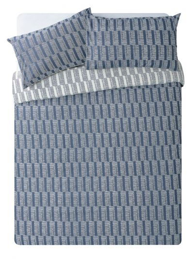 Argos Home Blue Sticks Bedding Set - Double Best Price, Cheapest Prices