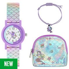 Tikkers Mermaid Watch Charm Bracelet and Purse Set Best Price, Cheapest Prices