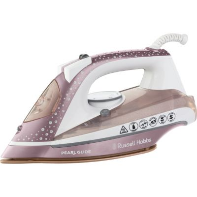 Russell Hobbs Pearl Glide 23972 2600 Watt Iron -Pink Best Price, Cheapest Prices