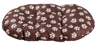 Paw Print Fleece Oval Cushion - Extra Large Best Price, Cheapest Prices