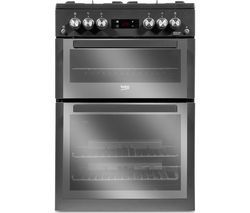 BEKO Pro XDVG674MT 60 cm Gas Cooker - Anthracite Best Price, Cheapest Prices