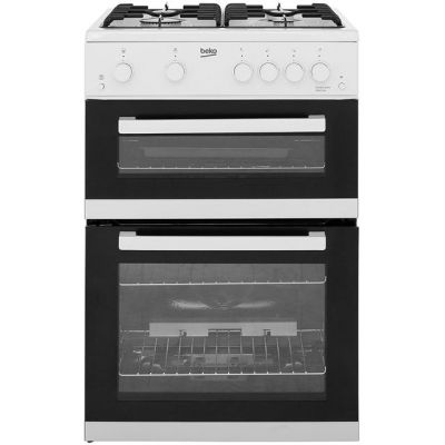 Beko KDG611W Gas Cooker with Full Width Gas Grill - White - A+/A Rated Best Price, Cheapest Prices