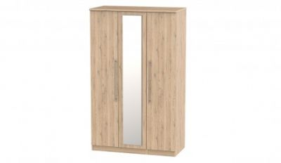 Harrow 3 Door Mirrored Hinged Wardrobe Best Price, Cheapest Prices