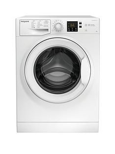 Hotpoint Nswm843Cw 8Kg Load, 1400 Spin Washing Machine - White Best Price, Cheapest Prices