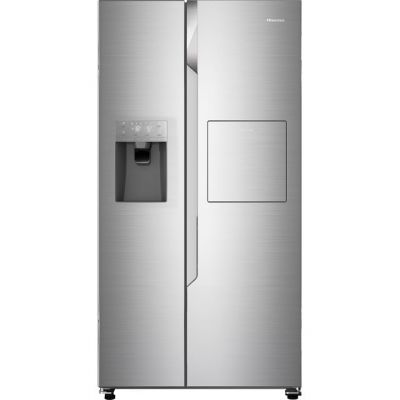 Hisense RS694N4BC1 American Fridge Freezer - Stainless Steel - A+ Rated Best Price, Cheapest Prices