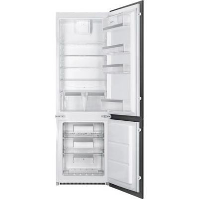 Smeg UKC7280NEP1AO Integrated 70/30 Frost Free Fridge Freezer with Sliding Door Fixing Kit - White - A+ Rated Best Price, Cheapest Prices