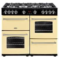 Belling Farmhouse 100G 100cm Gas Range Cooker in Cream 444444141 Best Price, Cheapest Prices