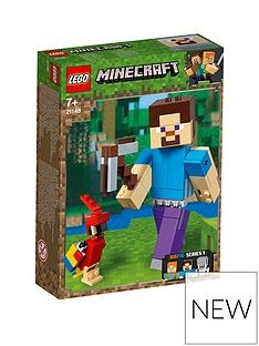 LEGO Minecraft 21148 Minecraft™ BigFig Steve with parrot Best Price, Cheapest Prices