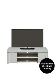 Atlantic High Gloss Corner TV Unit with LED Light - Grey - fits up to 50 inch TV Best Price, Cheapest Prices