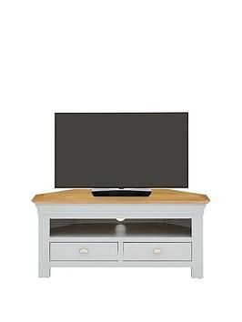 Seattle Ready Assembled Corner Tv Unit - Fits Up To 46 Inch Tv Best Price, Cheapest Prices