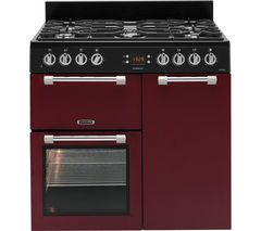 LEISURE Cookmaster CK90F232R Dual Fuel Range Cooker - Red Best Price, Cheapest Prices