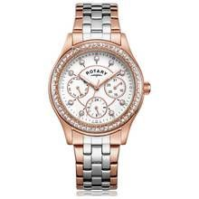 Rotary Ladies' Rose Two Tone Multi Dial Watch Best Price, Cheapest Prices
