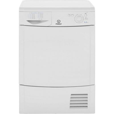 Indesit Eco Time IDC8T3B Condenser Tumble Dryer - White - B Rated Best Price, Cheapest Prices