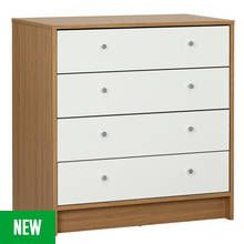 Argos Home Malibu 4 Drawer Wide Chest Best Price, Cheapest Prices