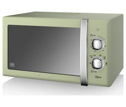 SWAN SM22130GN Solo Microwave - Green Best Price, Cheapest Prices
