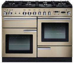 RANGEMASTER Professional+ 110 Gas Range Cooker - Cream & Chrome Best Price, Cheapest Prices