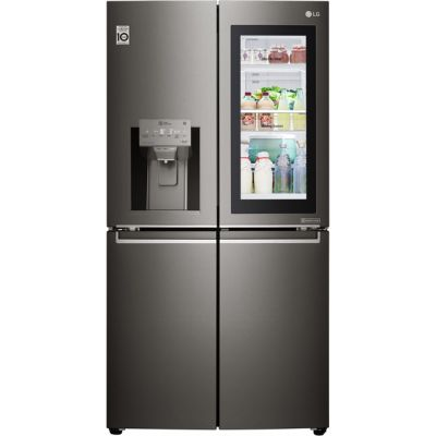 LG InstaView™ Door-in-Door™ GMX936SBHV Wifi Connected American Fridge Freezer - Black Steel - A+ Rated Best Price, Cheapest Prices